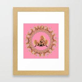 Pinup Pattern 1 Framed Art Print