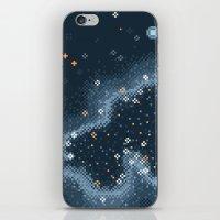 8bit iPhone & iPod Skins featuring Grey Rift Galaxy (8bit) by Sarajea