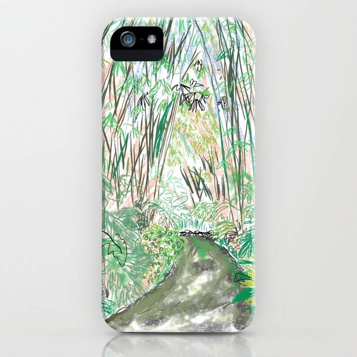 Bamboo Cathedral Sketch - San Marino CA iPhone Case