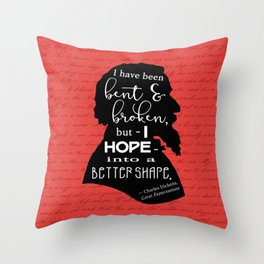 Into a Better Shape - Dickens (Red) Throw Pillow