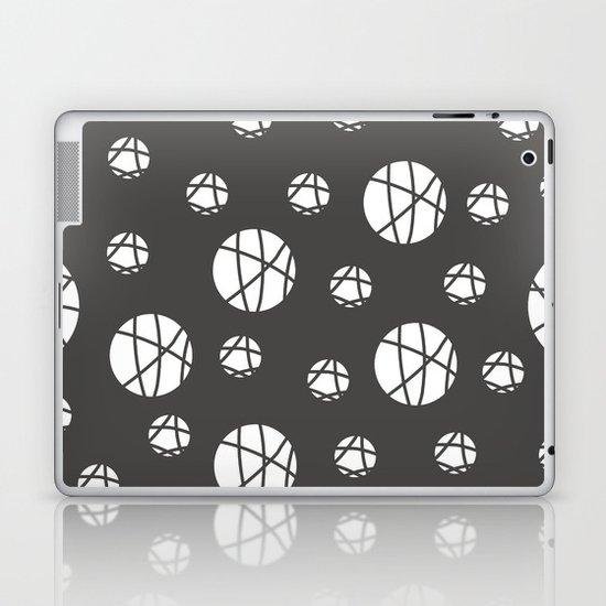 Broken Orbs (WhiteOnGray) Laptop & iPad Skin