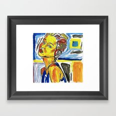 figure in color study Framed Art Print