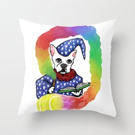 Doggy Wizard Throw Pillow