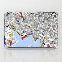 oslo iPad Cases featuring Oslo mondrian by Mondrian Maps