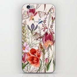 Bright spring field. Romantic pattern iPhone Skin