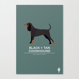 Black + Tan Coonhound Canvas Print