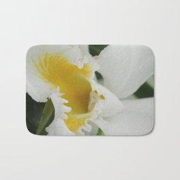 white orchid Bath Mat