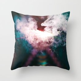 smoking area colour Throw Pillow