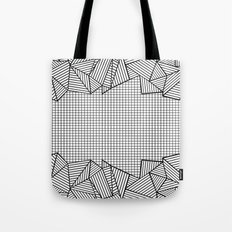 Grids and Stripes Tote Bag
