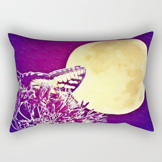 Night Wings Rectangular Pillow