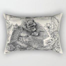 Koko Love Graphite Drawing Rectangular Pillow