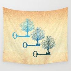 Tree Keys Wall Tapestry