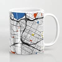 los angeles Mugs featuring Los Angeles by Mondrian Maps