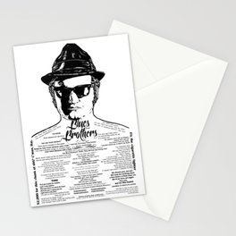 Jake Blues Brothers tattooed 'Four Fried Chickens' Stationery Cards