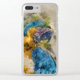 Parrot Colours Clear iPhone Case