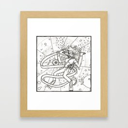 Diver Danger Framed Art Print