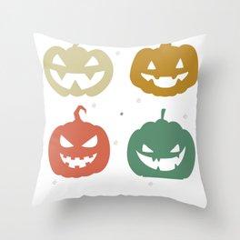 Halloween Smiling Pumpkin Throw Pillow