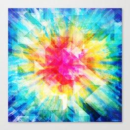 GEOMETRIC TIE DYE (Rainbow, Multi color) Canvas Print