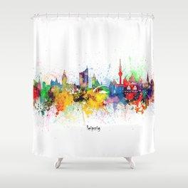 leipzig skyline artistic Shower Curtain