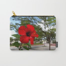 Red Flower Bloom Carry-All Pouch
