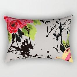Smoky Flowers Rectangular Pillow