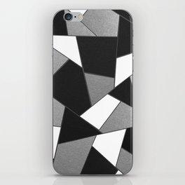 Silver Gray Black White Geometric Glam #1 #geo #decor #art #society6 iPhone Skin