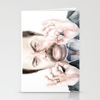 swanson Stationery Cards featuring Swanson Mustache by Olechka