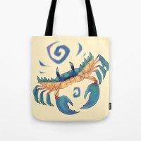 crab Tote Bags featuring Crab by Anya McNaughton