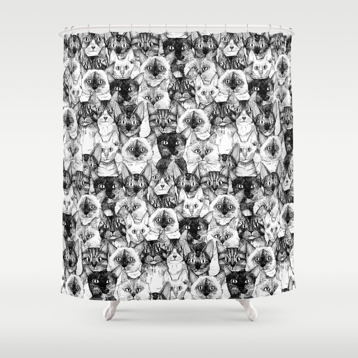 Just Cats Shower Curtain