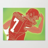 49ers Canvas Prints featuring 49ers Colin Kaepernick by Courtney Charlton