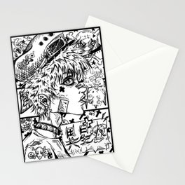Anime Rock girl Stationery Cards