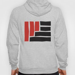 Red and Black Block Hoody