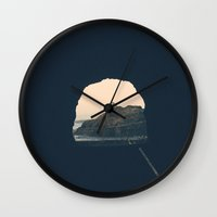 nick cave Wall Clocks featuring cave by jared smith