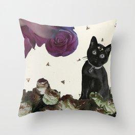 Ask the Cat Throw Pillow
