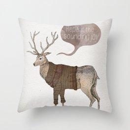 Repeat the Sounding Joy Throw Pillow
