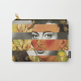 Frida Kahlo's Self Portrait with Parrot & Joan Crawford Carry-All Pouch