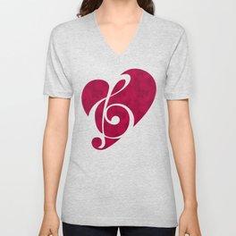 Love Music Unisex V-Neck