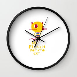 Mr French Potato Cat Wall Clock