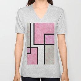 Pink Tiles Unisex V-Neck