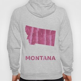Montana map outline Pale violet red blurred wash drawing Hoody