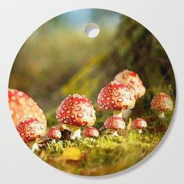 Beautiful but toxic - Fly agaric - Amanita - Autumn illustration - #society6 #buyart Cutting Board