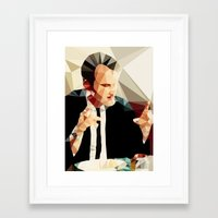quentin tarantino Framed Art Prints featuring Quentin Tarantino // Reservoir Dogs by VIVA LA GRAPH!