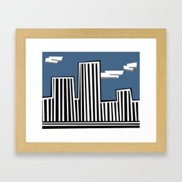 Untitled Minimalist Cityscape Three Framed Art Print