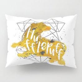 Hufflepuff Black Splatter Pillow Sham