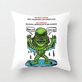 No Entrar Throw Pillow