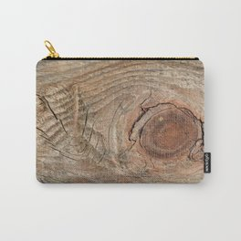 Wood with knot Carry-All Pouch