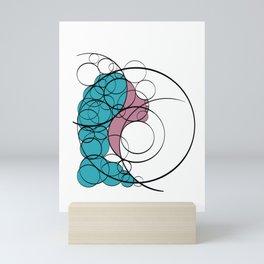Woman in circles Mini Art Print