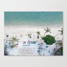 Aerial Koh Phangan Beach Canvas Print