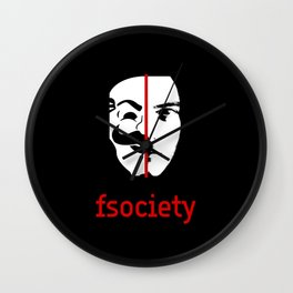 We Are The fsociety (RED) Wall Clock
