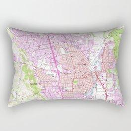 Vintage Map of Napa California (1951) Rectangular Pillow